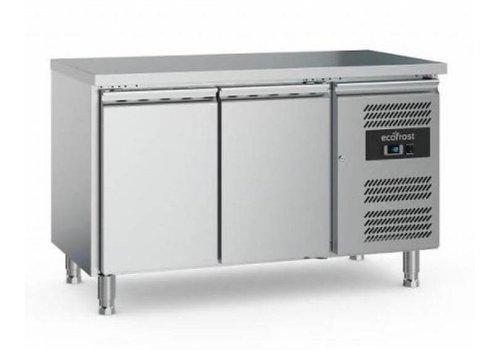 Ecofrost Kühlwerkbank | Edelstahl | 282L | 2 Türen