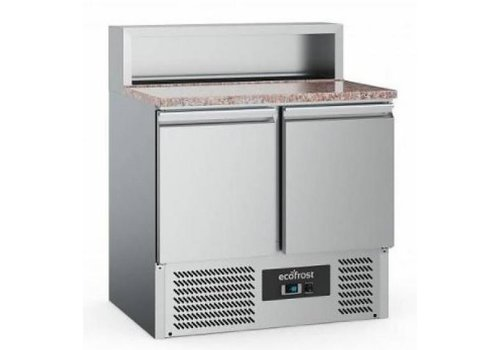 Ecofrost Pizzawerkbank | RVS | 240L | 2 deurs