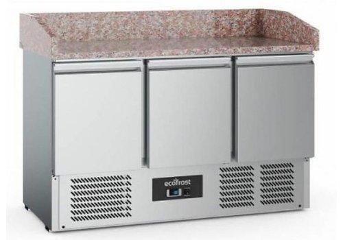 Ecofrost Pizzawerkbank | RVS | 368L | 3 deurs