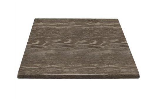 HorecaTraders Quadratische Tischplatte 60 cm Wenge