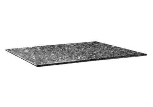 HorecaTraders Tischplatte | 120 x 80 cm Granit Schwarz