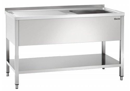 Bartscher Spüle Edelstahl | 1 Waschbecken rechts | 140x70x85 cm