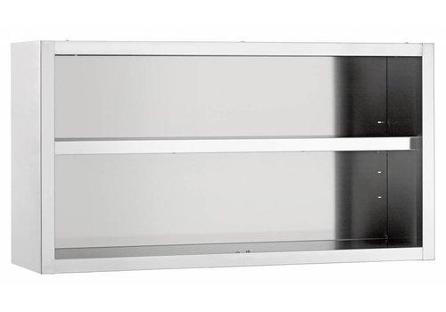 Bartscher Wall cupboard, open, W 1800 mm