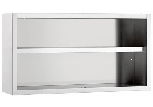 Bartscher Wall cupboard, open, W 1600 mm