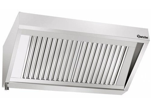 Bartscher Stainless steel hood without motor | 220 x 90 x 45 cm