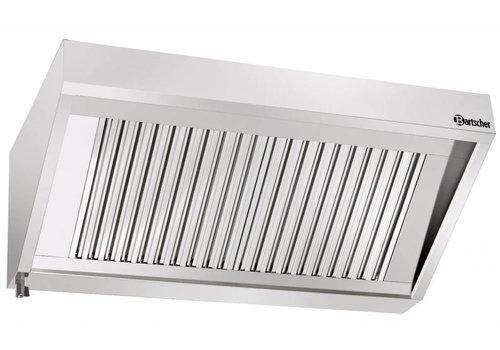 Bartscher RVS Afzuig installatie zonder motor | 180x90x45cm