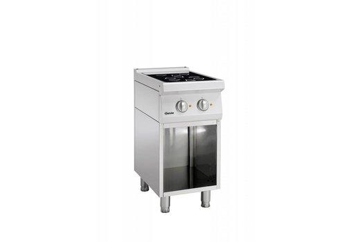 Bartscher Ceramic stove with open base | 2 zones