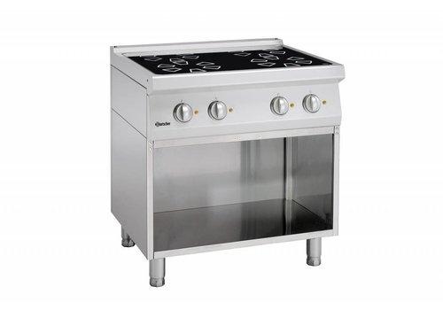 Bartscher ceramic stove with open base | 4 zones