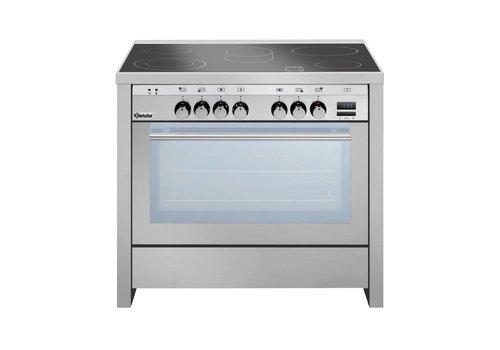 Bartscher ceramic stove with multifunction oven | 5 zones