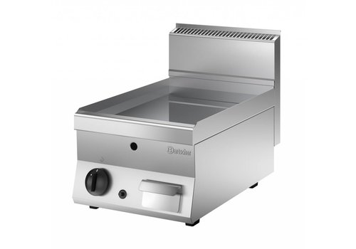 Bartscher Table top grill plate | Smooth | Gas 40x65x29.5 cm