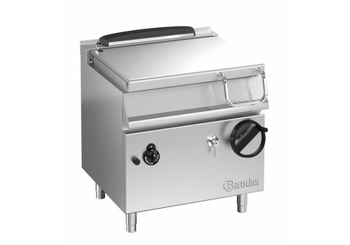 Bartscher Gas tilting frying pan with handwheel tilting device