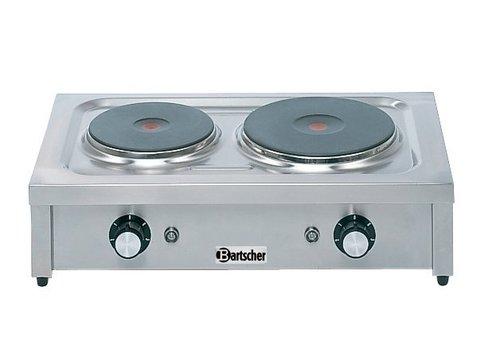 Bartscher Kooktoestel met 2 elektrische kookplaten | 4,6 kW