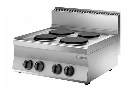 Bartscher Kooktoestel met 4 elektrische kookplaten