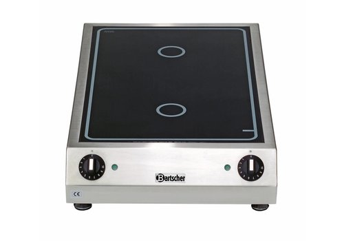 Bartscher Ceramic electric cooker | 2 zones, 3.0 kW
