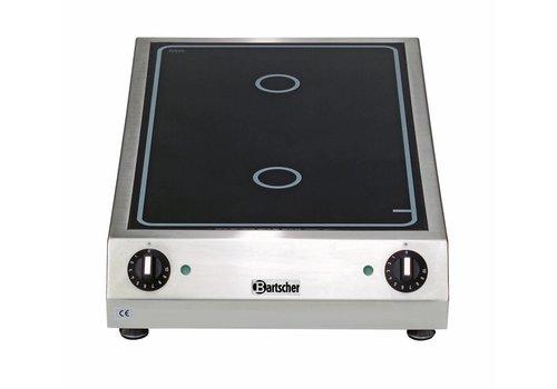 Bartscher Keramisch elektrisch kooktoestel | 2 zones, 3,0 KW