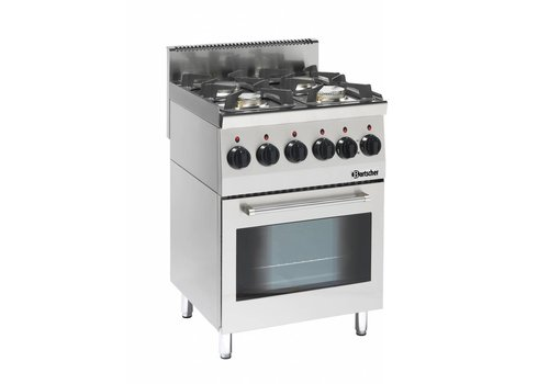 Bartscher Gas cooker with Multifunction Oven | 4 Burners