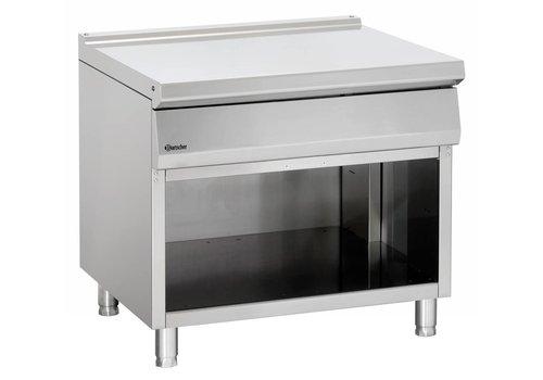 Bartscher Neutral stainless steel open base element   90x90x85cm
