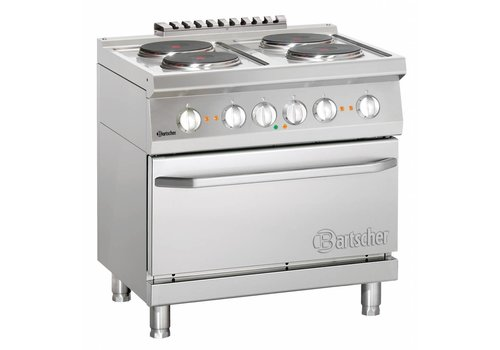 Bartscher Stove with electric oven | 4 people