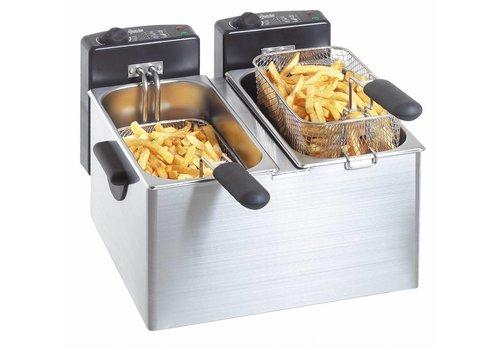 Bartscher Dubbele frituurpan - 2 x 4 Liter