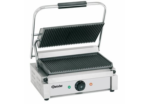 Bartscher Electric Contact Grill | Ribbed | 6 positions