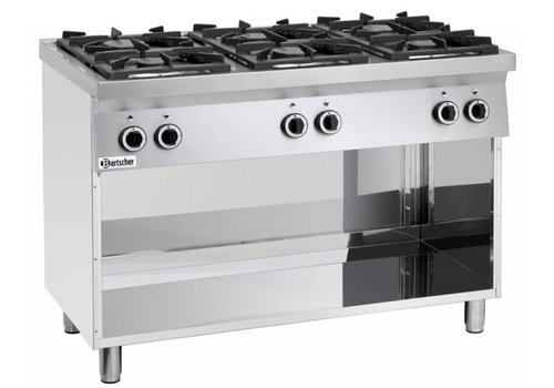 Bartscher Stove with Open Substructure | 6 Burners