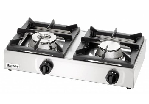 Bartscher Stainless Steel Propane Gas Fire Table 11kW | 2 Burners