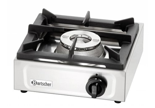 Bartscher Edelstahl-Gasherd   6,5 KW