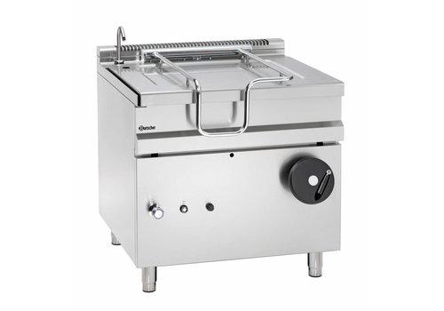 Bartscher Gas tilting frying pan with hand operated tilting wheel