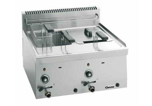 Bartscher Gas deep fat fryer with 2 basins each 8 litres Series 600