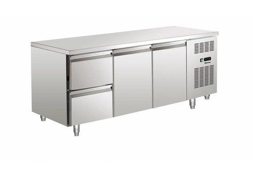 Bartscher Cool Workbench SS 2 doors / 2 drawers   179 x 70 x 85 cm