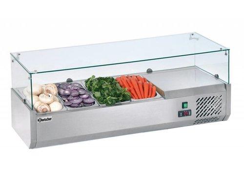 Bartscher Refrigerated setup display case 4 x 1/3 GN - 150 mm height