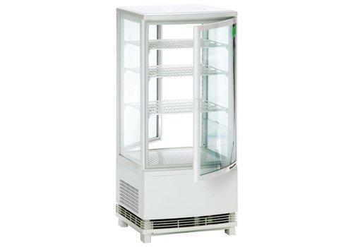 Bartscher Mini Kühlvitrine 86L, 2T, weiß
