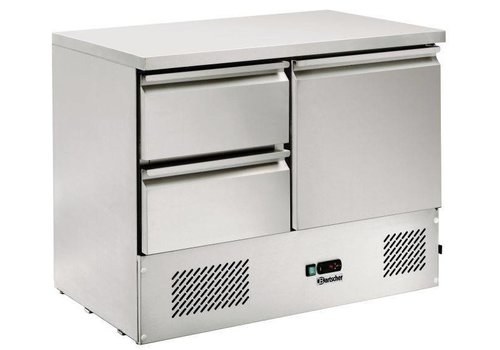 Bartscher Cool Workbench SS 2 drawers 1 door | 105 x 69 x 87.5 cm