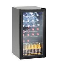 Black bottle fridge with glass | 88 liters BEST SOLD