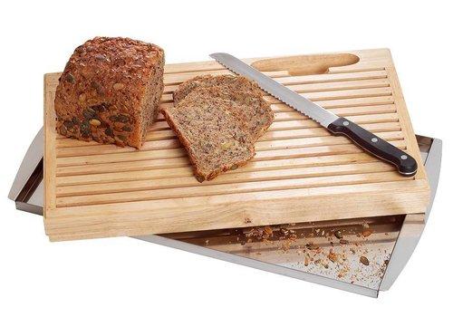 Bartscher Holz Schneidebrett und Messer | 42,5 x 25 x 4 cm