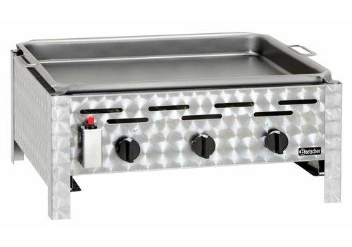 Bartscher Tafel gas barbecue met 3 branders