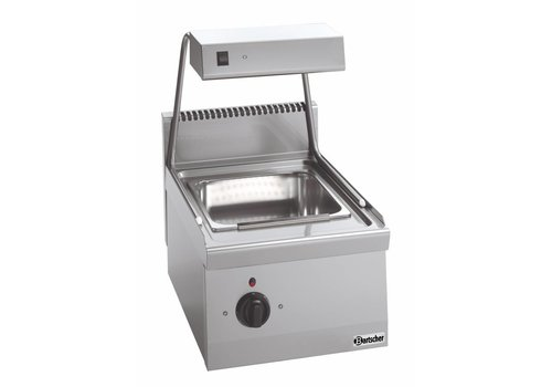 Bartscher Electric warmer for French fries with dish warmer Series 600