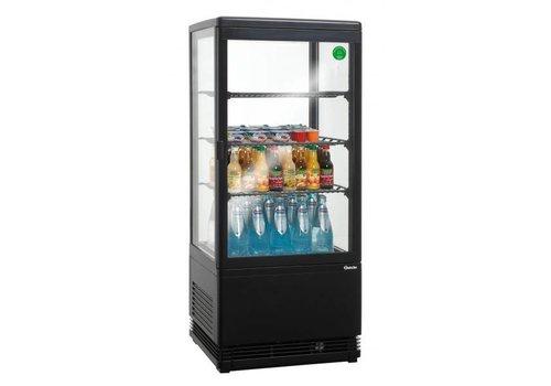 Bartscher Zwarte opzetvitrine met verlichting - 78 Liter