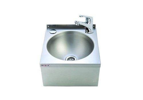 HorecaTraders Waschbecken Einhebelmischer | Edelstahl 304 | 30 x 32 x 19,5 cm