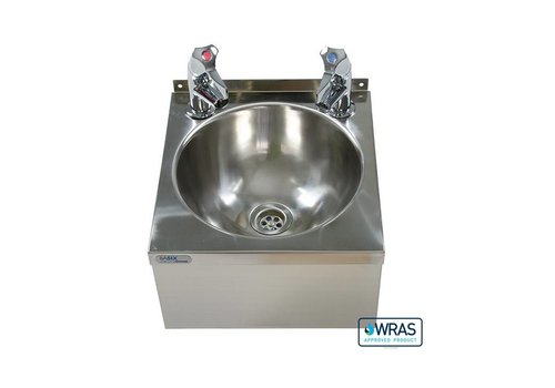 HorecaTraders Washbasin Double tap | Stainless steel 304 | 30 x 32 x 19.5 cm