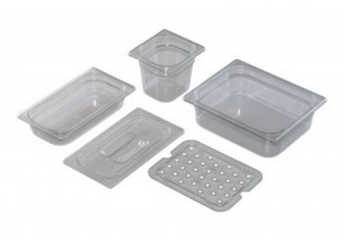 Saro 1/6 Gastronorm lid poly without spoon recess