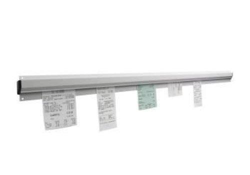 Saro Gutscheine Ständer aus Aluminium | 90cm breit