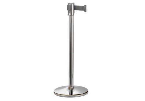 Saro Afzetpaal RVS met afspanlint - 180 cm