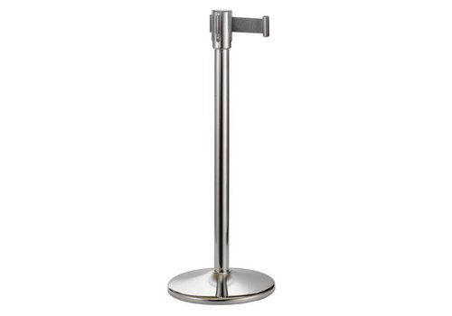 Saro Barrier post stainless steel with tension ribbon - 180 cm