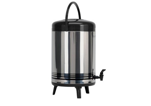 Saro Edelstahl-Heißwasserspender mit Wasserhahn 12 Liter