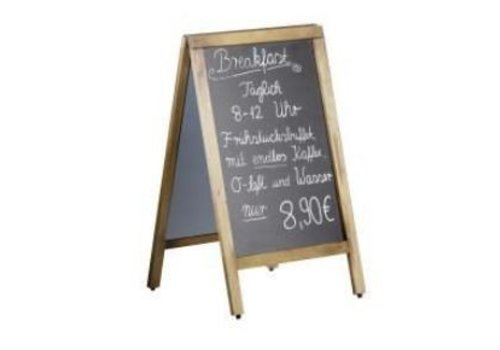 Saro | Kreidetafel mit Holzrahmen | 50x85cm