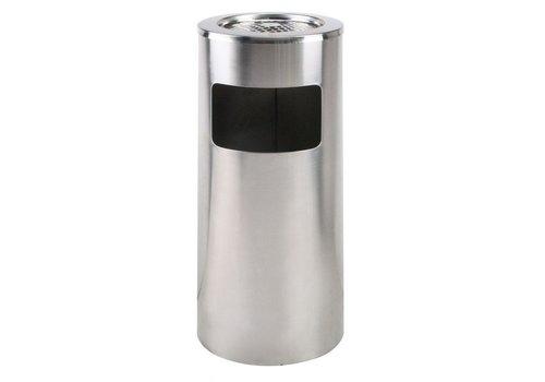 Saro Abfallbehälter mit herausnehmbarem Aschenbecher 20 l | Rostfreier Stahl