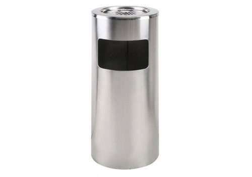 Saro Waste bin with removable ashtray | 20 L | Stainless steel