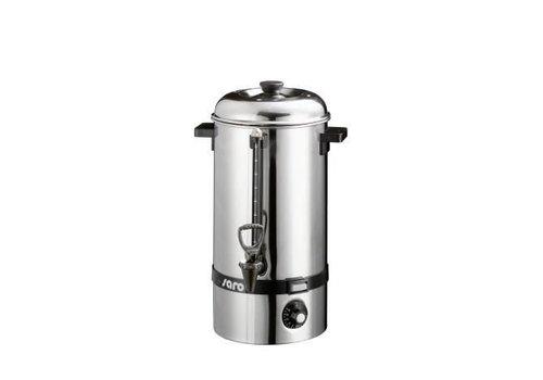 Saro Edelstahl-Heißwasserspender mit Wasserhahn 10 Liter