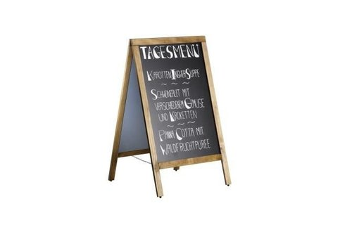 Saro Sidewalk Model Blackboard with Wooden Frame | 70x (H) 120cm